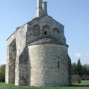 Abside en « cul-de-four » - chapelle romane Saint-Laurent (XIeme siècle) - Jonquières-Saint-Vincent (Gard).