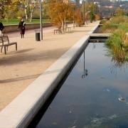 """Allée du parc de Gerland - Lyon (69) - Atelier Michel Corajoud paysagistes (1997-2006) photo: Françoise Miller."""""""