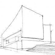 Architecture monolithique du Centre d'art (St Jacques de Compostelle) (Alvaro Siza - 1988-93)