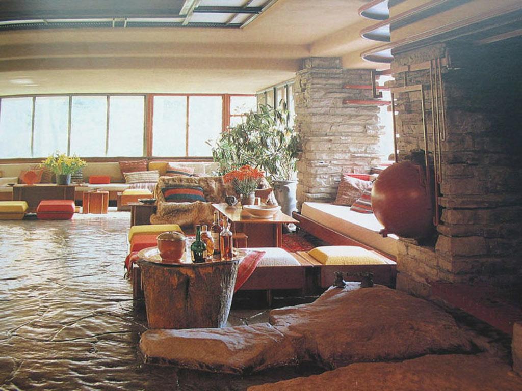 Architecture organique de la maison sur la cascade 1935 pennsylvanie e u
