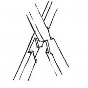 Assemblage en croix de St André - croquis Karine Terral.