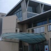 Auvent de l'Ecole Normale Supérieure de Lyon (69) (Henri Gaudin - 1997-2000) photo: Karine Terral.