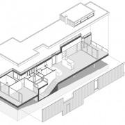 Axonométrie de la maison de Grachaux (70) (Quirot-Vichard - architectes - 2000).