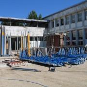 Stock des banches du chantier du collège de Maîche (25) (2006) photo: Karine Terral.