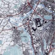 Carte I.G.N. montrant Allonnes (72) banlieue du Mans - photo: CAUE 72.