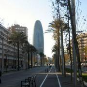 Boulevard à Barcelone (Esp.) photo: Christine Belliard-Roman.