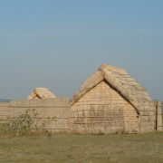 Maison: cabane de pêcheurs en bois et sagne - photo: Karine Terral.