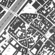 Extrait du cadastre de Besançon (25) section du centre historique.