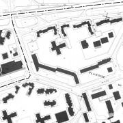 Extrait du cadastre de Besançon (25) section du quartier Z.U.P. de Planoise.