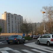 Carrefour de la place Montrapon à Besançon à la croisée des rues Montrapon - Montjoux et Midol (photo: Karine Terral).
