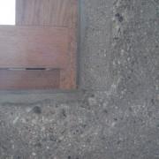 Détail d'un châssis en bois de la Cité radieuse de Firminy (62) Le Corbusier - photo: Karine Terral.