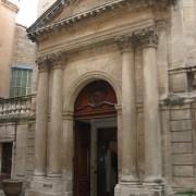 Colonnes engagées de l'hôtel Saint Côme (1756) Montpellier (34) photo: Odile Besème.