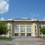Composition de la façade principale de la Maison du peuple de Belfort (90) (Paul Giroud - 1927-1933) labellisée Patrimoine du XXe - photo: Roland Galli.