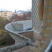 Corniche en béton de la villa Schob - Neufchâtel (Suisse) Le Corbusier - photo: Karine Terral.