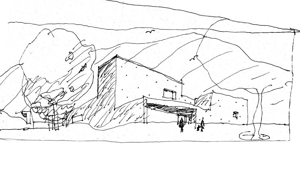 Croquis caue for Croquis architecturaux de maisons