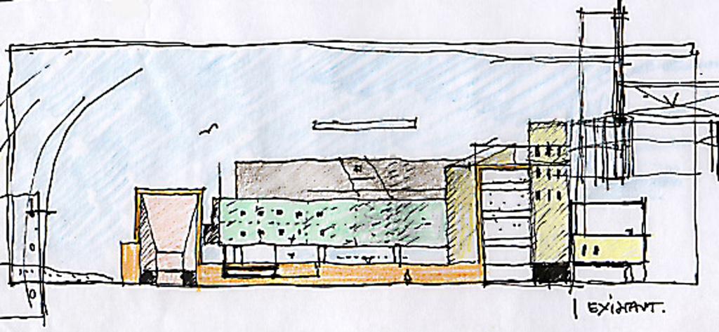 Croquis caue for Architecture paysagiste