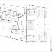 Plan R+1 du collège Lumière à Besançon au 1:100e. Source agence Quirot-Vichard.