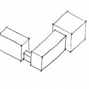 Identifiez sur cette image: l'aile de bâtiment - partie qui est complémentaire au bâtiment principal.