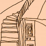 Dessin d'escalier par un enfant - photo: CAUE 71.