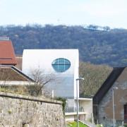 Vue sur différents faîtages de toiture. Besançon - photo : Karine Terral.