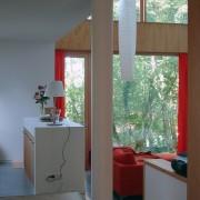 Intérieur de la maison de Chenecey-Buillon (25) (Quirot et Vichard - architectes - 2006) photo: Ludivine Gérardin.