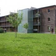 Immeuble de la résidence Olzbundt - Dornbirn (Autriche) (Kaufmann - 1997) photo: Maison de l'Architecture de Franche-Comté.