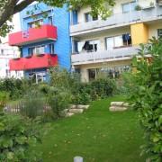 Jardin de résidences - quartier Vauban - Fribourg (All.) photo: Karine Terral.