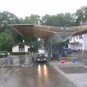 Structure lamellé-collé - frontière autrichienne - photo: Maison de l'architecture de Franche-Comté.