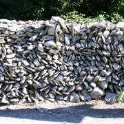 Blocage de pierre sèche - photo: Françoise Miller.