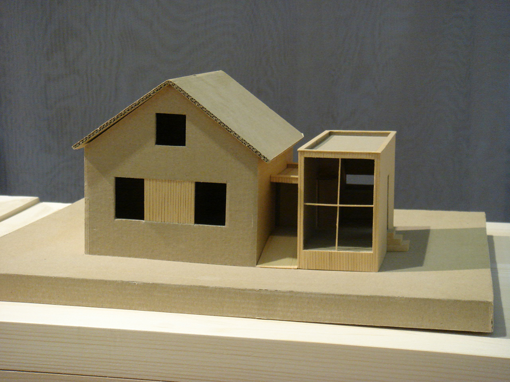 maquette de maison en carton avie home. Black Bedroom Furniture Sets. Home Design Ideas