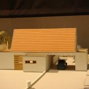Maquette en carton de la maison Laroche (70) (Thierry Gheza - architecte - 2004).