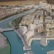 Maquette du quartier Port Marianne de Montpellier (34) ville de Montpellier.