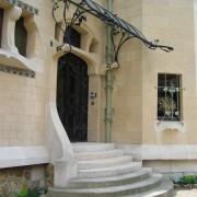 Perron d'une villa Art nouveau - Majorelle - photo: Françoise Miller.