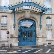 Marquise Art-Déco de la Chambre de Commerce et d'Industrie de Nancy - oeuvre de Louis Majorelle (1908) photo: Françoise Miller.