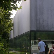 Uniformité d'un matériau de structure : le béton brut du gymnase du collège de Mäder (Autriche) (Carlo Baumschlaget et Dietmar Eberle - 1994-1998) photo: Karine Terral - 2006.