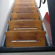 Partie menuisée de l'escalier intérieur de l'Unité d'habitation de Firminy - 1965 - Le Corbusier - photo: Karine Terral.