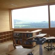 Menuiserie de l'école de Doren (Autriche) (Cukrowicz et Nachbaur - architectes - 2003) photo: Karine Terral.
