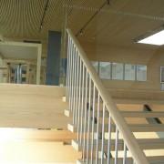 Menuiserie intérieure du Centre communal de Ludesch (Autriche) (Hermann Kaufmann - 2005) photo: Maison de l'architecture de Franche-Comté - 2006.