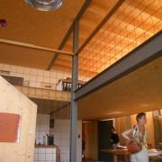 Mezzanine d'une maison-atelier à Dornbirn (Autriche) photo: Karine Terral - 2006.