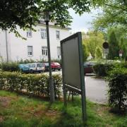 Mobilier urbain en acier galvanisé - quartier Vauban à Fribourg (All.) photo: Karine Terral - 2006.