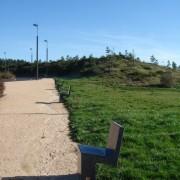 Espace vert de l'aire de Garabit sur l'A75 - photo: Karine Terral.