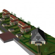 Modélisation 3D d'une opération groupée à la Rivière-Drugeon (25) (François Haton - architecte - 2006).