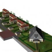 Modélisation 3D d'un projet de lotissement à la Rivière-Drugeon (25) (François Haton - architecte - 2006).