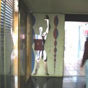 Une représentation du Modulor - cher à Le Corbusier - à la Cité Radieuse de Marseille.