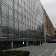 Façade de l'Institut du monde arabe inspirée des moucharabieh orientaux - Jean Nouvel - Paris (75) photo: CAUE du Doubs.