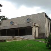 Descente d'eaux pluviales de l'église Saint Joseph - Besançon (25) - photo. Karine Terral.