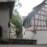 Ossature de pans de bois d'une maison à Bâle (Suisse) photo: Odile Besème.