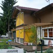 Pergola en bois - Dornbirn (Autriche) photo: Maison de l'Architecture de Franche-Comté.
