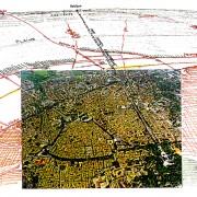 Nîmes centre et ses quartiers périphériques - illustration de la revue Urbanisme.