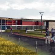 Perspective assistée par ordinateur de la Maison Intercommunale de l'Enfance et des Loisirs - Offemont (90) (Philippe Jean - architecte - 2004).